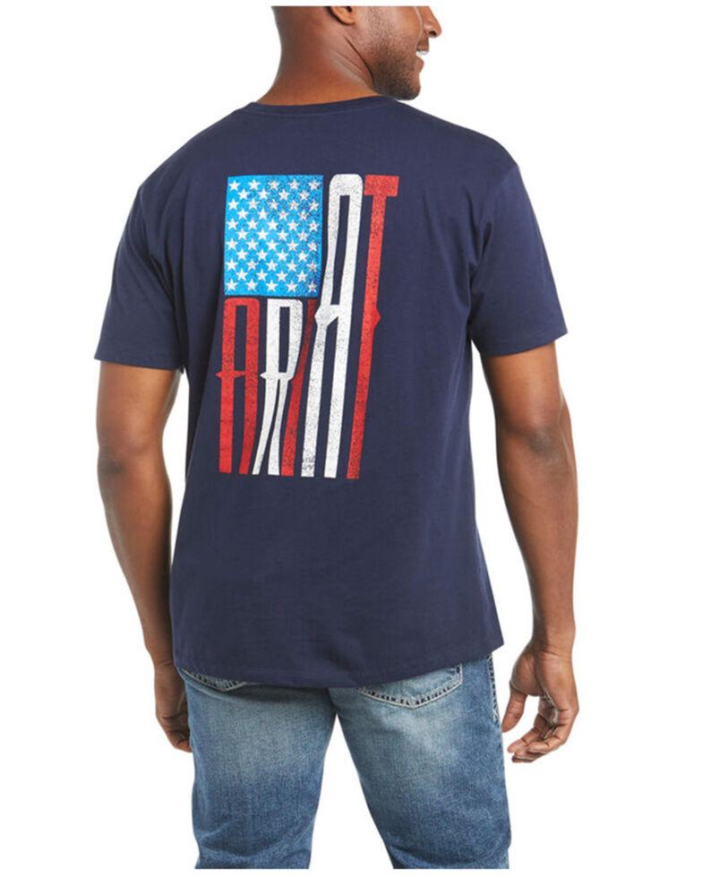 Ariat Men's US Of A Flag Graphic T-Shirt , Navy, hi-res