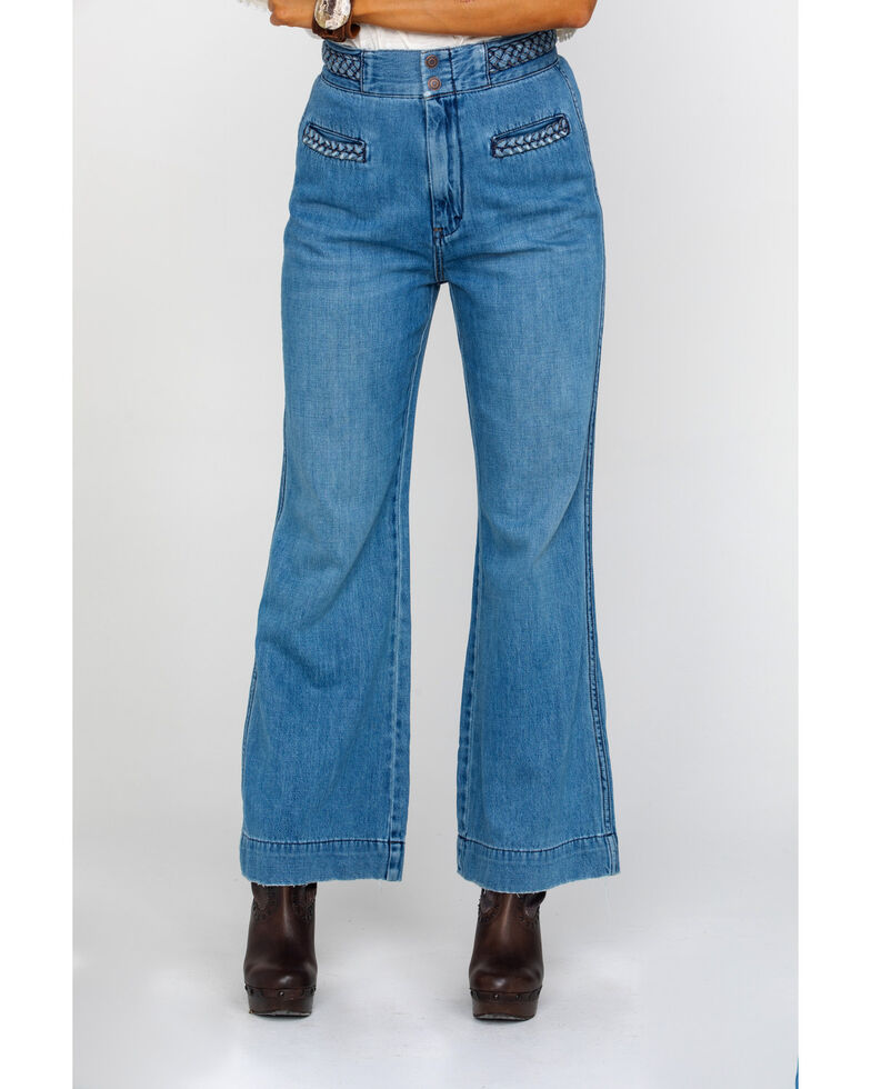 Free People Women's Seasons In The Sun Jeans , Blue, hi-res