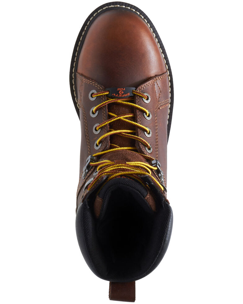 Wolverine Men's I-90 Durashocks Wedge Work Boots - Composite Toe, Brown, hi-res