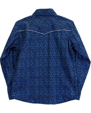 Cowboy Hardware Boys' Paisley Print Long Sleeve Shirt, Blue, hi-res