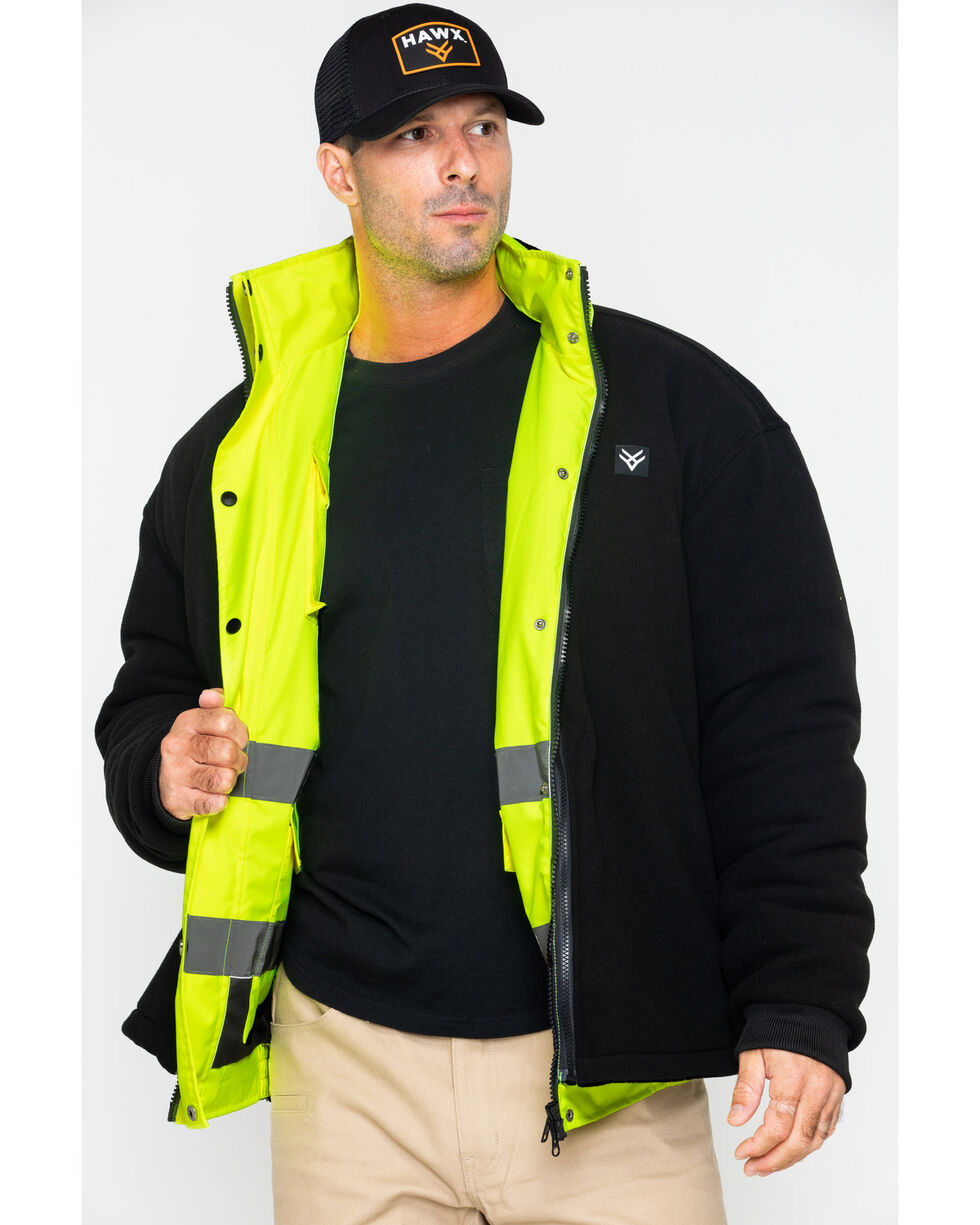 Hawx® Men's 3-In-1 Bomber Work Jacket - Big and Tall, Yellow, hi-res