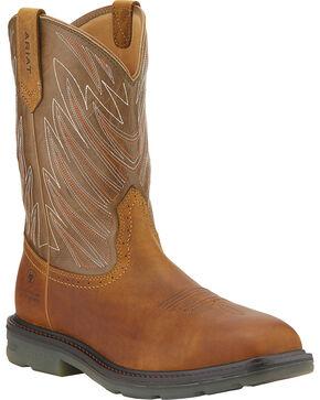 Ariat Men's Maverick Square Toe WP CT Western Work Boots, Aged Bark, hi-res