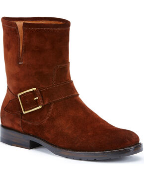 Frye Women's Brown Suede Natalie Short Engineer Boots, Brown, hi-res