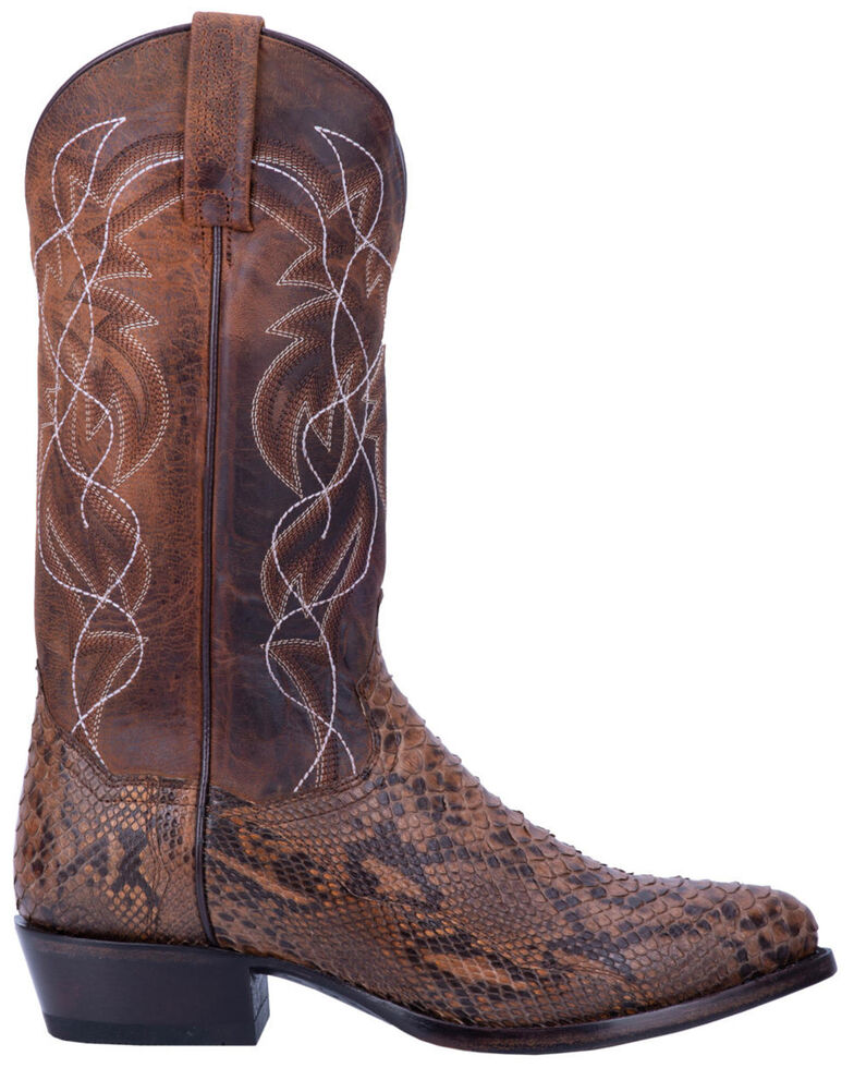 Dan Post Men's Manning Western Boots - Round Toe, Bay Apache, hi-res