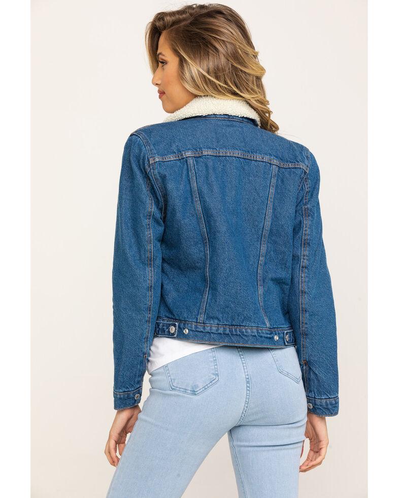 Levi's Women's Brick & Mortar Original Trucker Jacket , Blue, hi-res