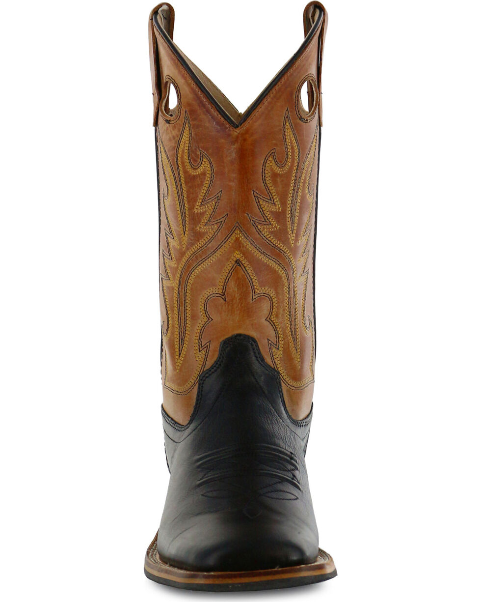 Old West Boys' Black Canyon Tan Cowboy Boots - Square Toe, , hi-res
