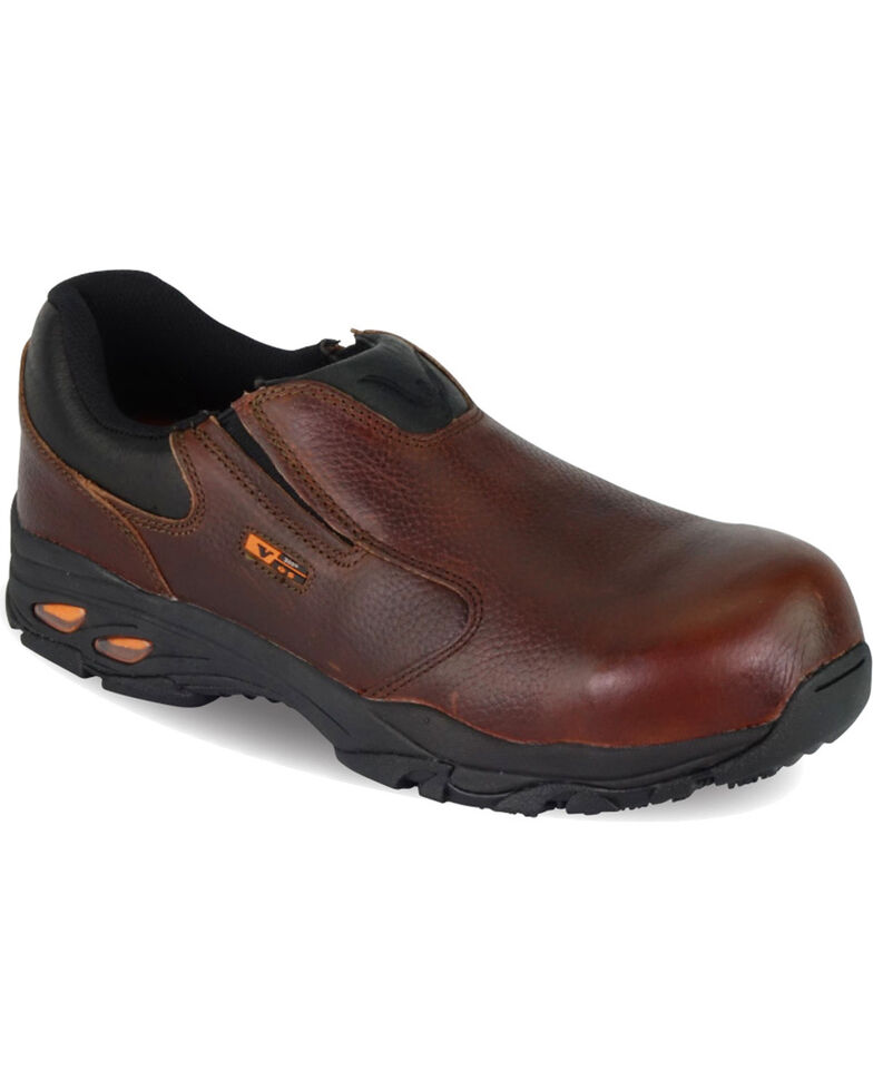 Thorogood Men's VGS-300/ASR/SD Slip On Oxfords - Composite Toe, Brown, hi-res