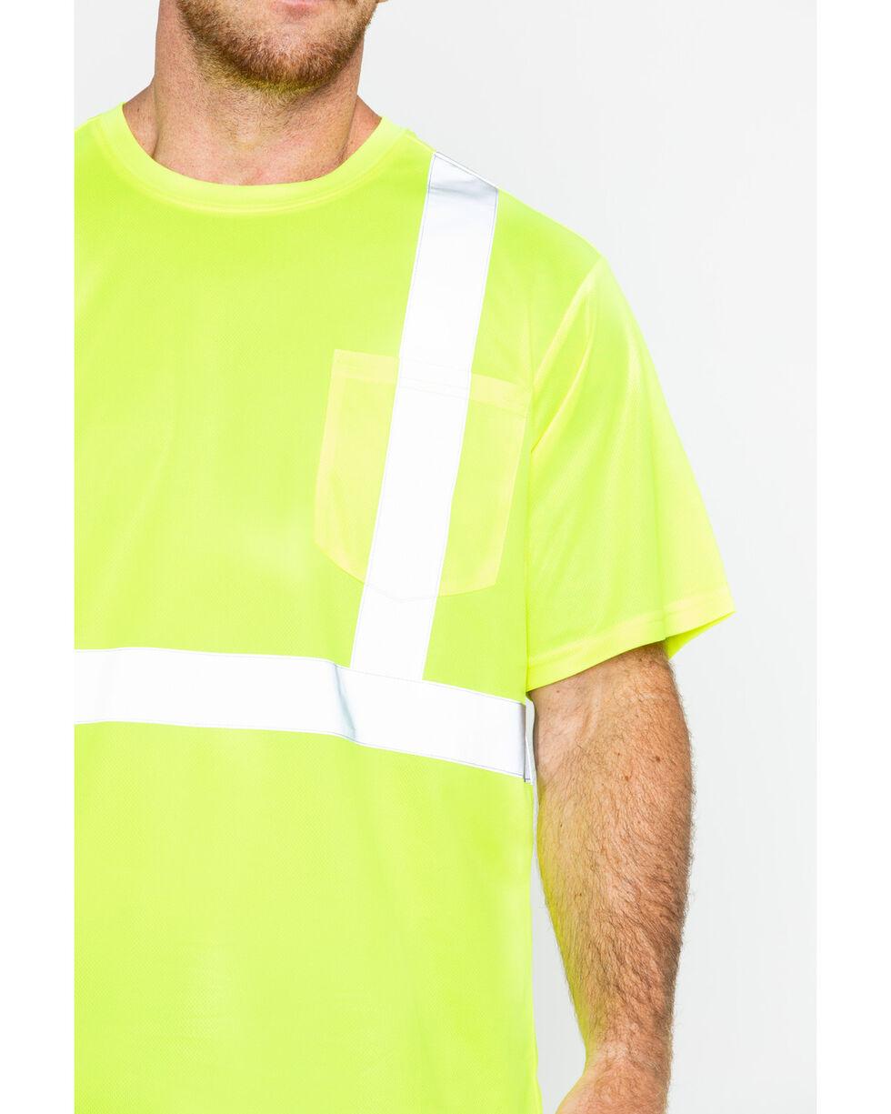 Hawx® Men's Short Sleeve Reflective Work Tee , Yellow, hi-res