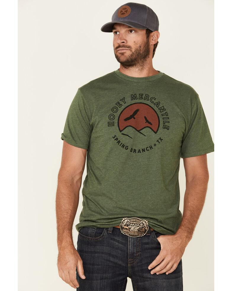 HOOey Men's Olive Spring Branch Graphic T-Shirt , Olive, hi-res