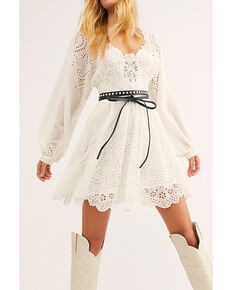 Free People Women's Ivory Lottie Dress , White, hi-res