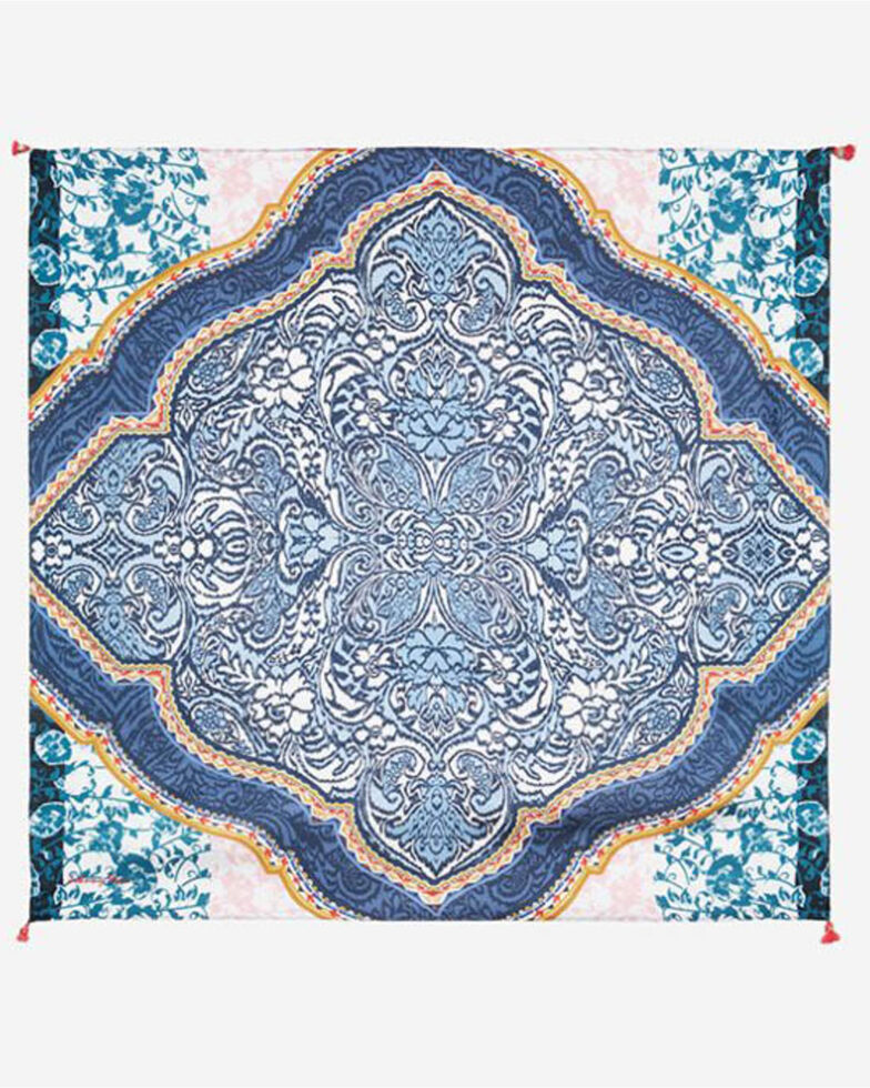 Johnny Was Women's Hecton Scarf, Blue, hi-res