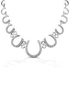 Kelly Herd Women's Multi Horseshoe Necklace , Silver, hi-res