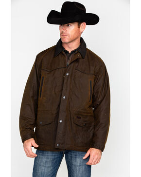 Outback Unisex Waterproof Oilskin Pathfinder Jacket, Bronze, hi-res