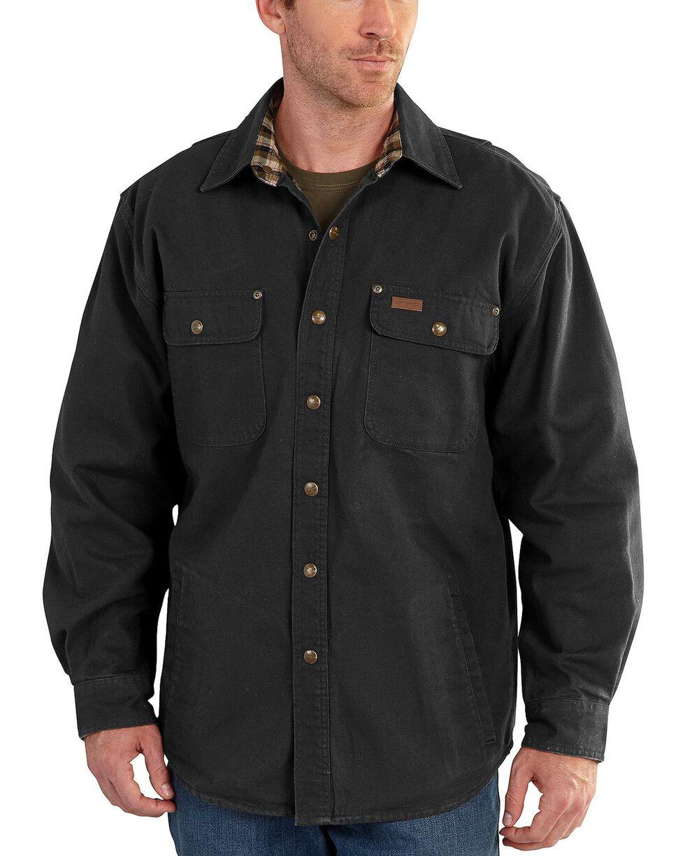 Carhartt Weathered Canvas Shirt Jacket, Black, hi-res