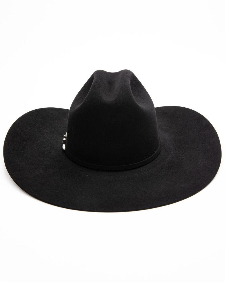 Rodeo King Men's 20X Black Felt Low Western Hat , Black, hi-res