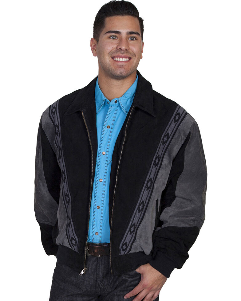 Scully Men's Suede Rodeo Jacket, Grey, hi-res