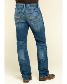 Cinch Men's Ian Light Stone Performance Slim Bootcut Jeans , Indigo, hi-res