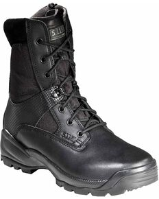 "5.11 Tactical Men's A.T.A.C 8"" Side-Zip Boots - Round Toe, Black, hi-res"