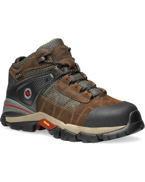 "Timberland Pro Men's 4"" XL Alloy Toe Waterproof Hiking Boots, Brown, hi-res"