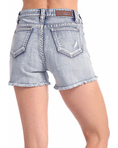Rock & Roll Cowgirl Women's Light Vintage Wash High Rise Shorts, Indigo, hi-res