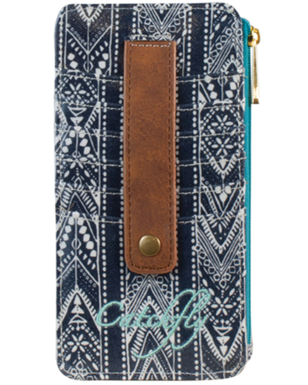 Catchfly Dakota Slim Canvas Wallet, Navy, hi-res