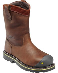 f8a9adc69d Keen Footwear Men's Wellington Pull-On Steel Toe Work Boots