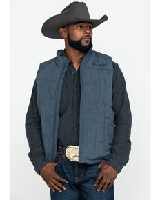 Ariat Men's Grey Crius Zip Front Vest , Grey, hi-res