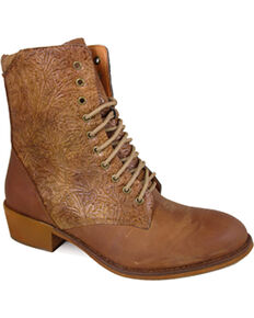 Smoky Mountain Women's Lacer Western Boots - Round Toe , Brown, hi-res