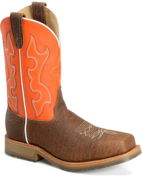 """Double H Men's 11"""" Composite Square Toe Western Work Boots, Brown, hi-res"""