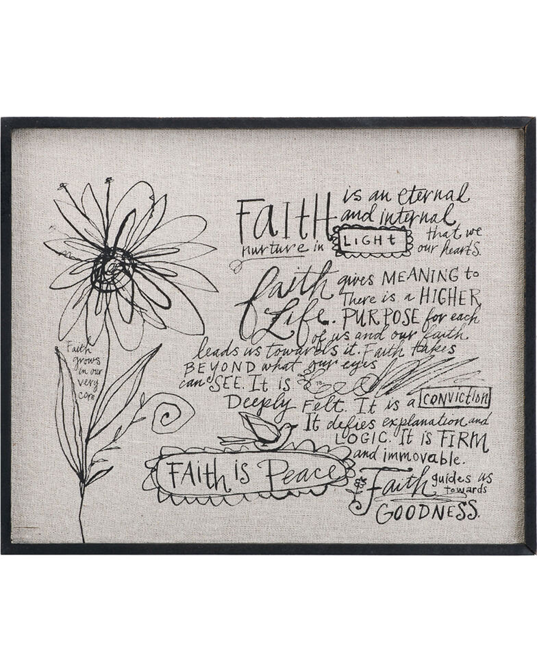 Demdaco Cream Poetic Threads Faith Wall Decor Boot Barn
