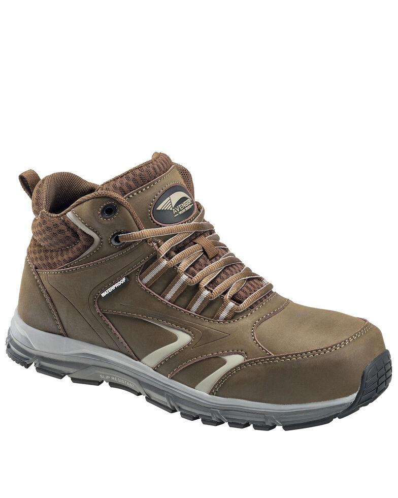 Avenger Men's Thresher Waterproof Work Shoes - Aluminum Toe, Brown, hi-res