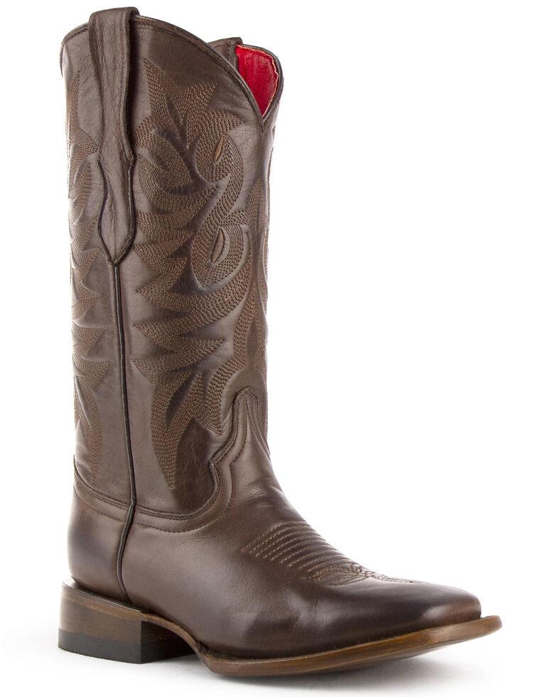 Ferrini Women's Jane Western Boots - Square Toe, Chocolate, hi-res