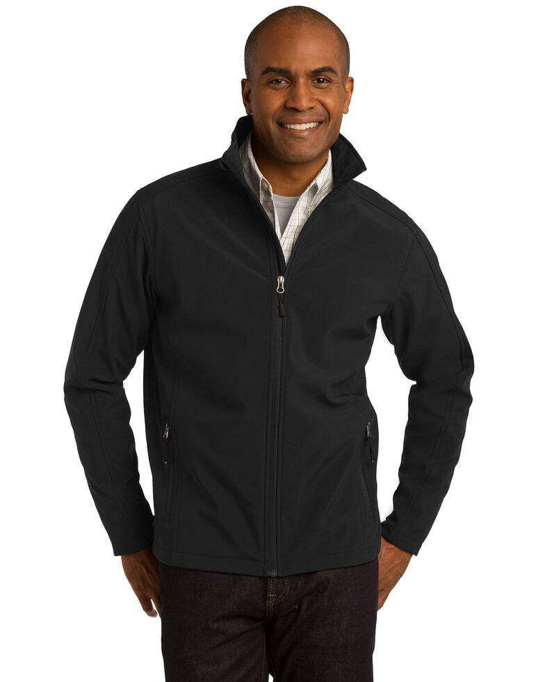 Port Authority Men's Black Tall Core Soft Shell Work Jacket , Black, hi-res