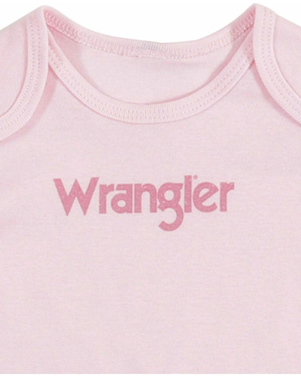 Wrangler Infant Girls' Pink Logo Onesie , Pink, hi-res