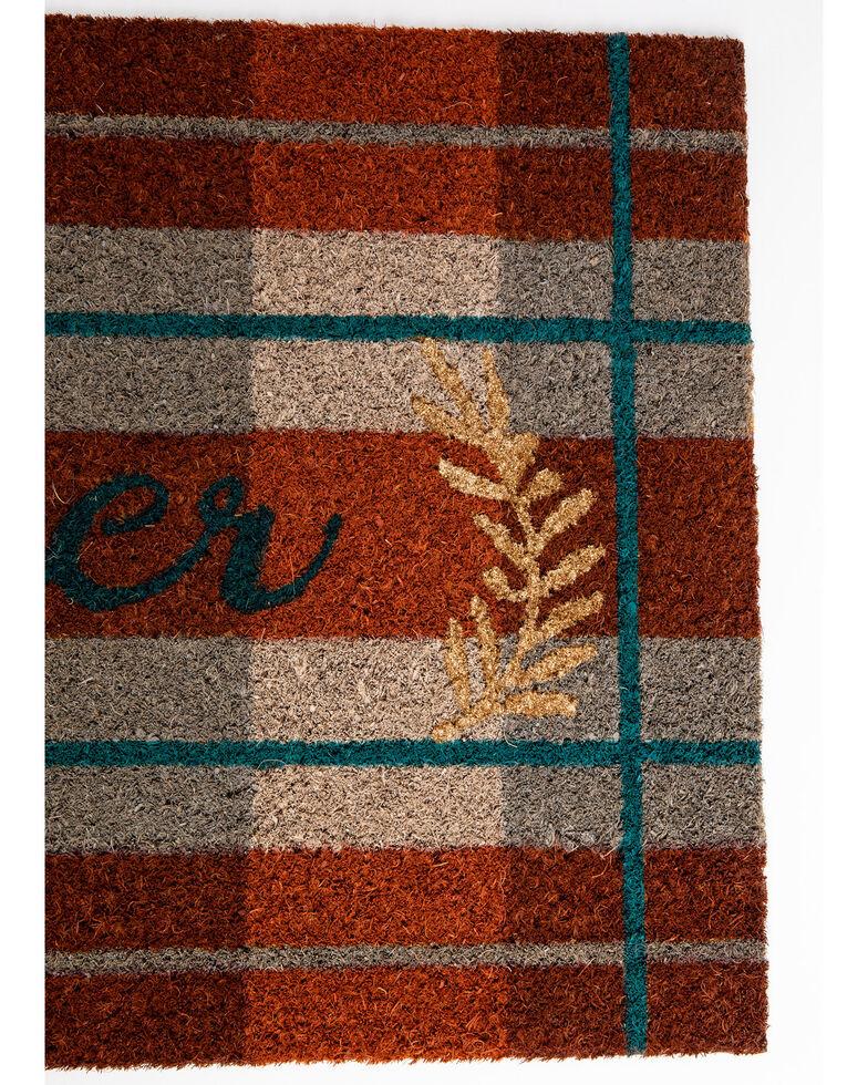 Boot Barn Ranch Gather Plaid Doormat, Orange, hi-res