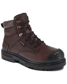 Iron Age Men's Troweler Waterproof Work Boots - Composite Toe, Brown, hi-res