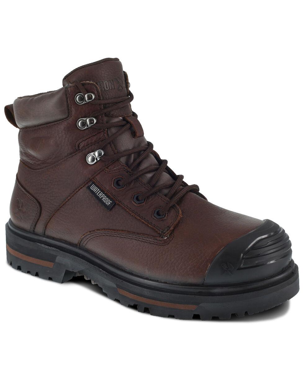 Iron Age Men's Troweler Waterproof Work Boots - Composite Toe, Brown, hi-res
