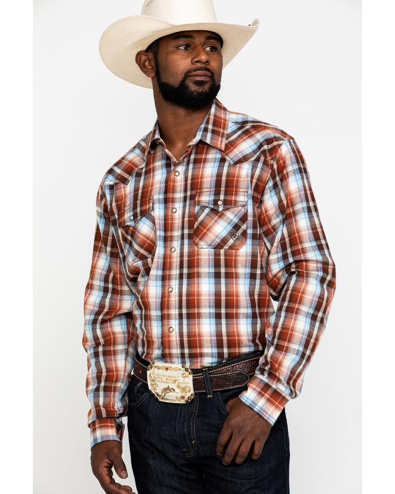 Ariat Men's Jonesboro Retro Large Plaid Long Sleeve Western Shirt , Multi, hi-res
