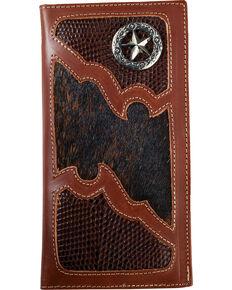 Western Express Men's Brown Star Emblem Wallet , Brown, hi-res