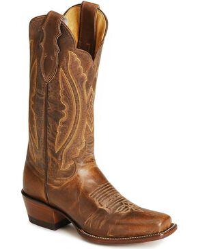 "Justin Women's 12"" Vintage Goat Western Boots, Tan, hi-res"