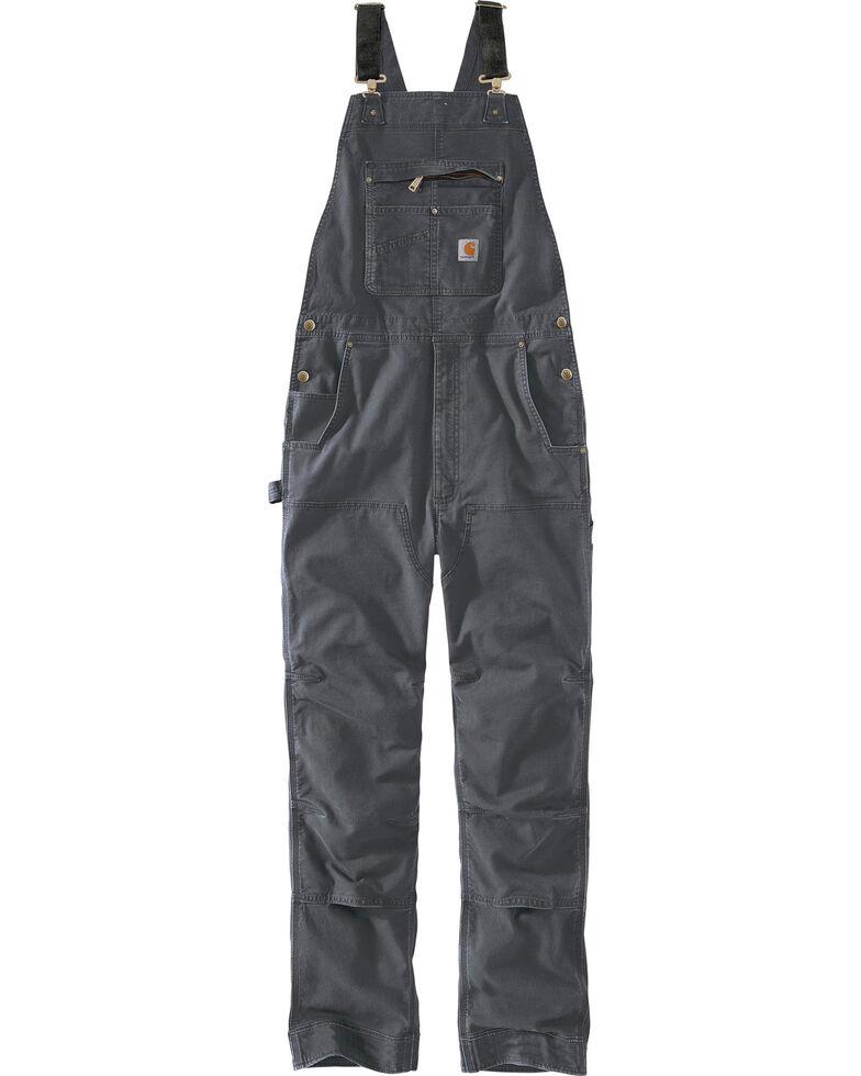 Carhartt Men's Rugged Flex Rigby Bib Overalls, Grey, hi-res