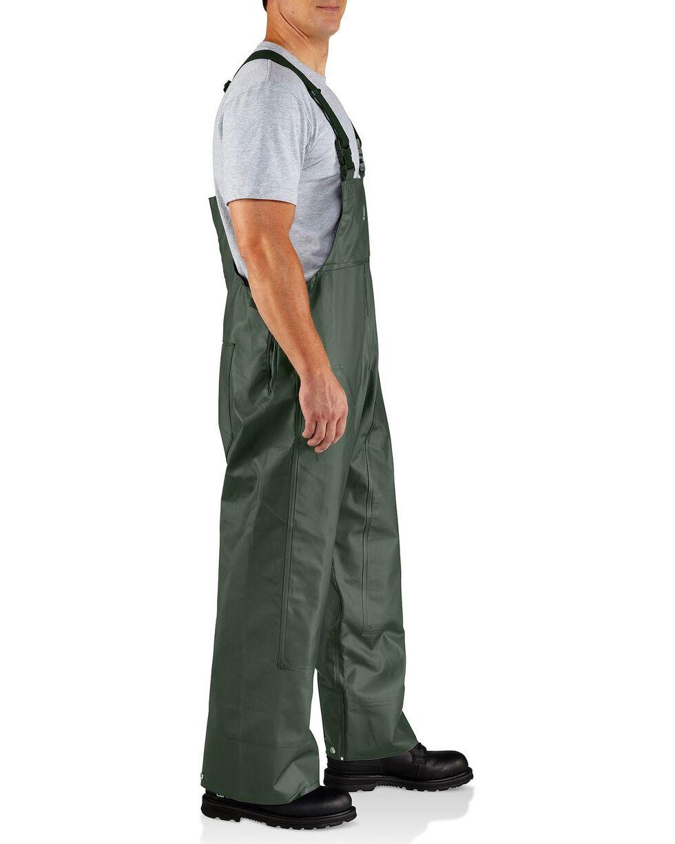 Carhartt Men's Surrey Rain Bib Overalls, Green, hi-res