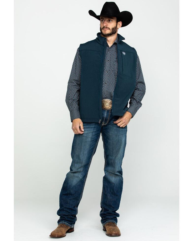 Ariat Men's Indigo Logo 2.0 Softshell Zip-Up Vest, , hi-res