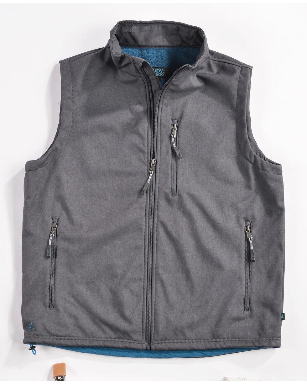 Cody James Men's Zip Vest, Charcoal, hi-res