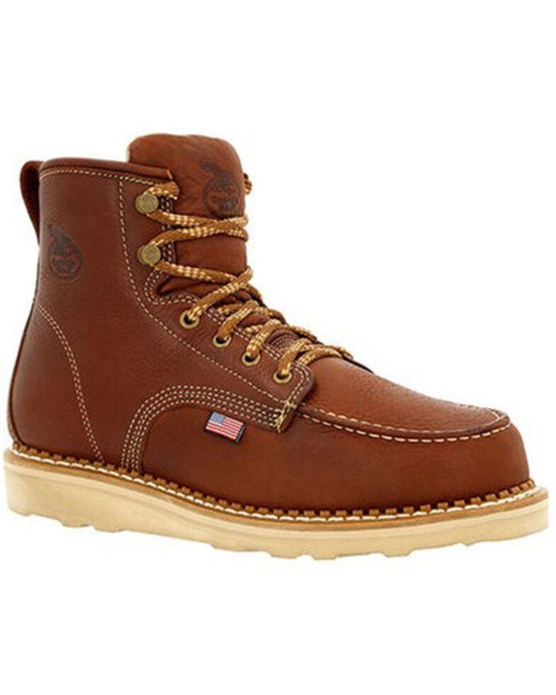 Georgia Boot Men's USA Wedge Work Boots - Soft Toe, Brown, hi-res