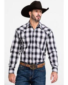Roper Men's Vintage Large Plaid Long Sleeve Western Shirt , Black, hi-res