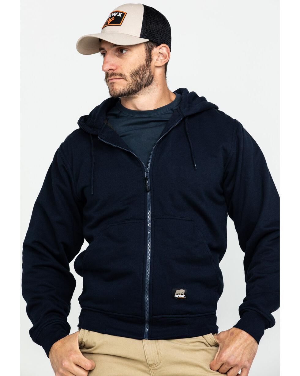 Berne Men's Original Hooded Sweatshirt, Navy, hi-res
