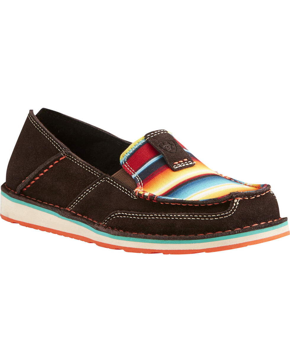 Ariat Women's Striped Cruiser Slip-on Shoes, Chocolate, hi-res