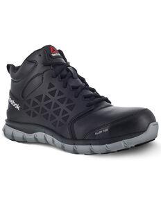 683cee71ad5a Reebok Men s Sublite Black Work Boots - Alloy Toe