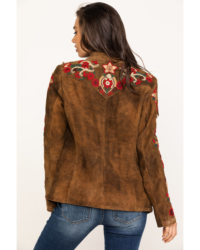 Tasha Polizzi Women's Kaya Suede Jacket, Brown, hi-res
